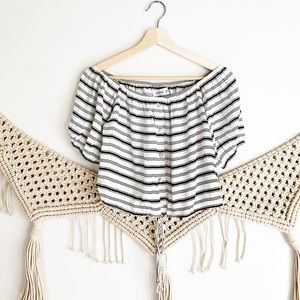 Faithfull the Brand Striped Crop Top